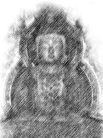 安国寺釈迦三尊像中尊