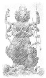 降三世明王像
