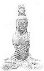 鉄舟地の菩薩坐像
