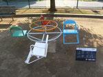 公園の遊具塗替え