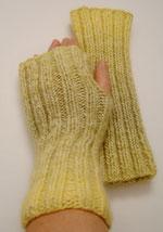 Handstulpen gelbgrün
