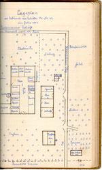 Lageplan der alten Hofstelle (1890)