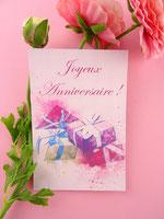 Coffret cadeau Rose pâtisserie gourmand et original aux perles avec véritables éclats de fleurs