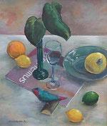 小鳥と果物/ F10 野崎 真紀子