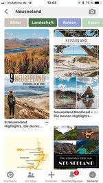 Reiseideen holen mit Pinterest