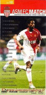 Programme  Monaco-PSG  2004-05