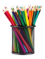 Stifte-Köcher mit bunten Farbstiften