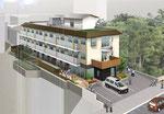 東京都に建設の高齢者施設の鳥瞰パ-ス