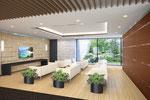 岡山に建設の病院待合室内観パース2 2015年