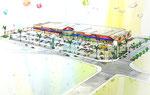 岡山市に建設のス-パ-マ-ケット