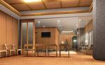 岡山市に建設の寺院ぼ内観パ-ス2