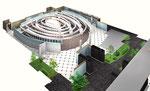 パチンコホールの内観俯瞰図の一部アップ