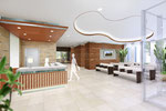 岡山に建設の病院受付の内観パース1 2015年