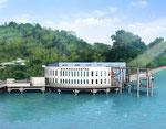 兵庫県の商船学校の鳥瞰パース