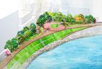 岡山市中心部に整備予定の水辺の公園2