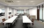 岡山市に建設のオフィスの内観パース