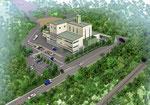 和歌山県に建設計画の熱処理施設の鳥瞰パース