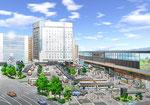 岡山駅前広場改修計画のパ-ス2