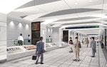 新宿駅地下鉄コンコ-スの内観パ-ス