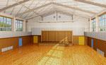 岡山に建設の学校の体育館の内観パース