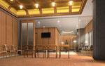 岡山市に建設の寺院の内観パ-ス1