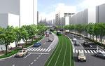 長崎市の路面電車軌道を緑化するパ-ス