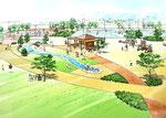 岡山県北に整備される公園の部分パ-ス