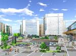 岡山駅前広場改修計画のパ-ス1