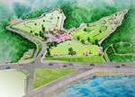 グランドゴルフ場の建設の鳥瞰パース