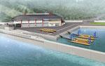 兵庫県に建設の艇庫の鳥瞰パ-ス