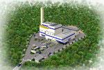 沖縄に建設のゴミ処理場の鳥瞰パ-ス