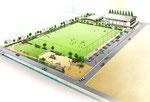 兵庫県に整備される芝生グランドの鳥瞰パ-ス