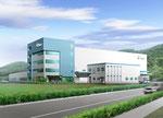 兵庫県に建設の部品工場の外観パース
