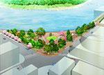 岡山市中心部に整備予定の水辺の公園1