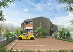 兵庫県に建設の集合住宅の外観パ-ス