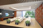 岡山に建設の病院待合室内観パース1 2015年