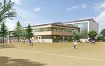 岡山に建設の小学校の外観パース