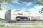 広島県に建設の倉庫の外観パ-ス