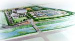 岡山の水処理施設の手描きパース2