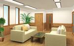 岡山市の高齢者施設の談話室内観パ-ス