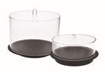 Kuchenhauben rund 720 & 721 aus transparentem Acryl, FMU GmbH, Sonderlösungen und Individualprodukte