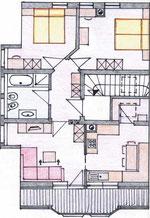 Pianta dell'appartamento