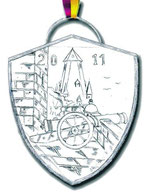 Burg Bentheim mit Kanone, Pulverturm und Katharinenkirche
