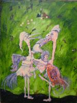 """""""Piepmacht"""" Acryl auf LW 60x80 (05.02.2011)"""