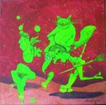 """""""Catwalk"""" Acryl auf LW 40x40 (09.03.2011)"""