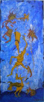 """""""Teufels General"""" Acryl auf LW 30x70 (29.12.2010)"""