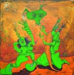 """""""Fleischeslust"""" Acryl auf LW 30x30 (24.07.2011)"""