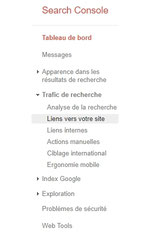 search console colonne pour liens entrants par e-cime.fr création de sites internet
