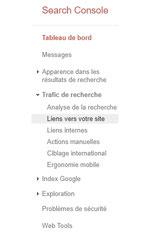 search console colonne pour liens entrants par e-cime.fr création de sites internet