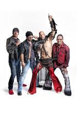 Lars, Mikel, Stevie und Birdy
